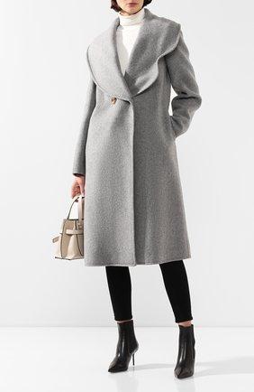 Женское шерстяное пальто REJINA PYO серого цвета, арт. A087/W00L   Фото 2