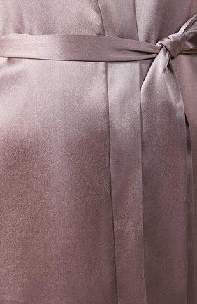 Женский шелковый халат COTTON CLUB коричневого цвета, арт. 6VB | Фото 5