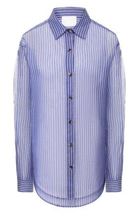 Женская рубашка из смеси хлопка и шелка TWINS FLORENCE голубого цвета, арт. TWFPE20CAM0005 | Фото 1
