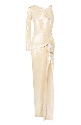 Женское платье с пайетками ROLAND MOURET золотого цвета, арт. SS20/S0837/F0414 | Фото 1