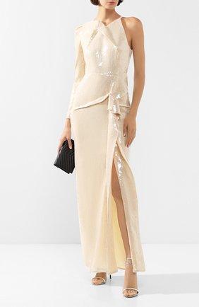 Женское платье с пайетками ROLAND MOURET золотого цвета, арт. SS20/S0837/F0414 | Фото 2