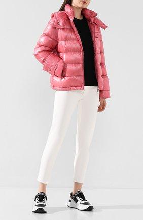 Женский пуховая куртка turquin MONCLER розового цвета, арт. F1-093-1A507-00-C0384 | Фото 2