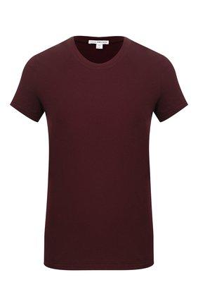 Женская хлопковая футболка JAMES PERSE бордового цвета, арт. WLJ3114   Фото 1