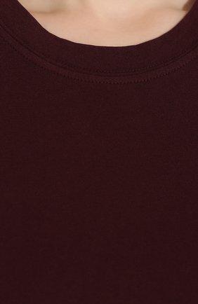 Женская хлопковая футболка JAMES PERSE бордового цвета, арт. WLJ3114   Фото 5