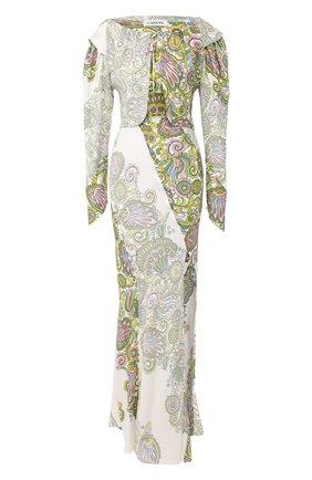 Женское платье из вискозы LANVIN зеленого цвета, арт. RW-DR358I-4379-P20 | Фото 1