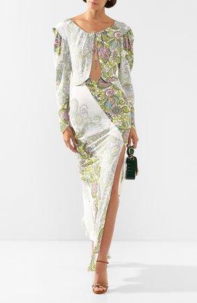 Женское платье из вискозы LANVIN зеленого цвета, арт. RW-DR358I-4379-P20 | Фото 2