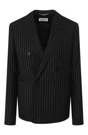 Женский шерстяной жакет SAINT LAURENT черного цвета, арт. 611054/Y1A90 | Фото 1