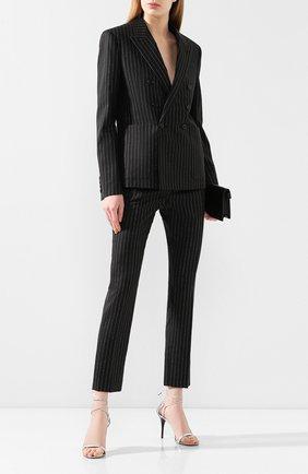 Женский шерстяной жакет SAINT LAURENT черного цвета, арт. 611054/Y1A90 | Фото 2