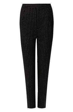 Женские шерстяные брюки SAINT LAURENT черного цвета, арт. 611057/Y1A90 | Фото 1