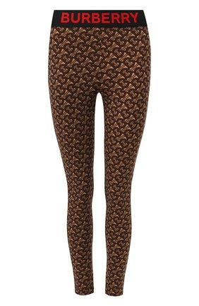 Женские леггинсы BURBERRY коричневого цвета, арт. 8024662 | Фото 1