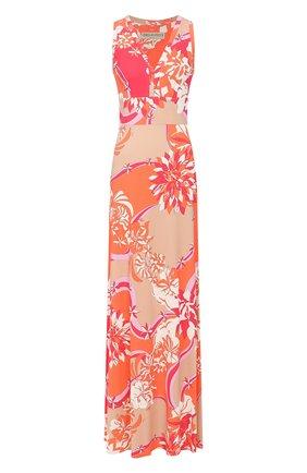 Женское платье из смеси вискозы и шелка EMILIO PUCCI разноцветного цвета, арт. 0EJI45/0E747 | Фото 1