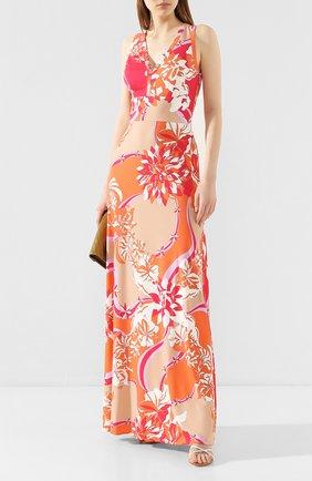 Женское платье из смеси вискозы и шелка EMILIO PUCCI разноцветного цвета, арт. 0EJI45/0E747 | Фото 2