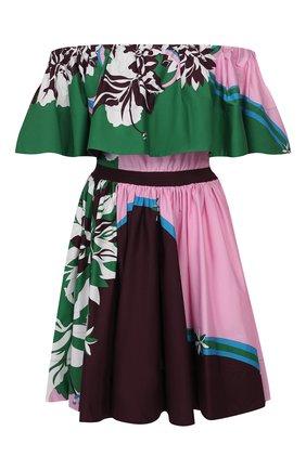 Женское хлопковое платье EMILIO PUCCI зеленого цвета, арт. 0ERG45/0E862 | Фото 1