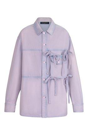 Мужская джинсовая рубашка LOUIS VUITTON розового цвета, арт. 1A7QIH | Фото 1