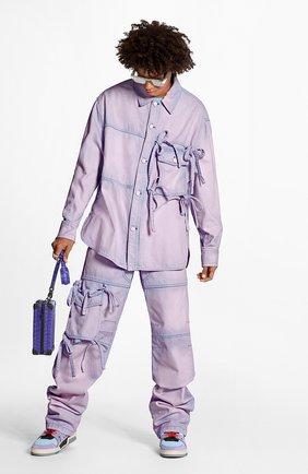 Мужская джинсовая рубашка LOUIS VUITTON розового цвета, арт. 1A7QIH | Фото 2
