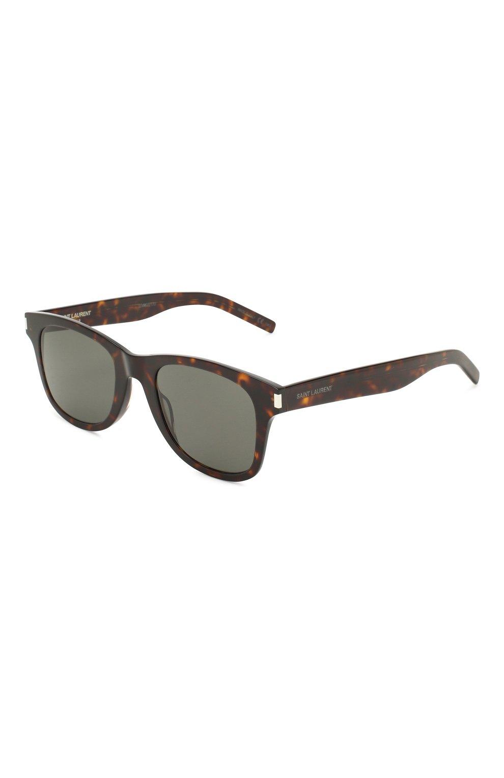 Женские солнцезащитные очки SAINT LAURENT коричневого цвета, арт. SL 51-B SLIM 003 | Фото 1