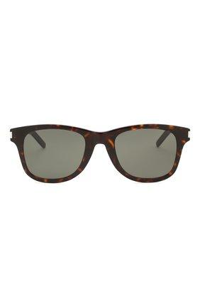Женские солнцезащитные очки SAINT LAURENT коричневого цвета, арт. SL 51-B SLIM 003 | Фото 3