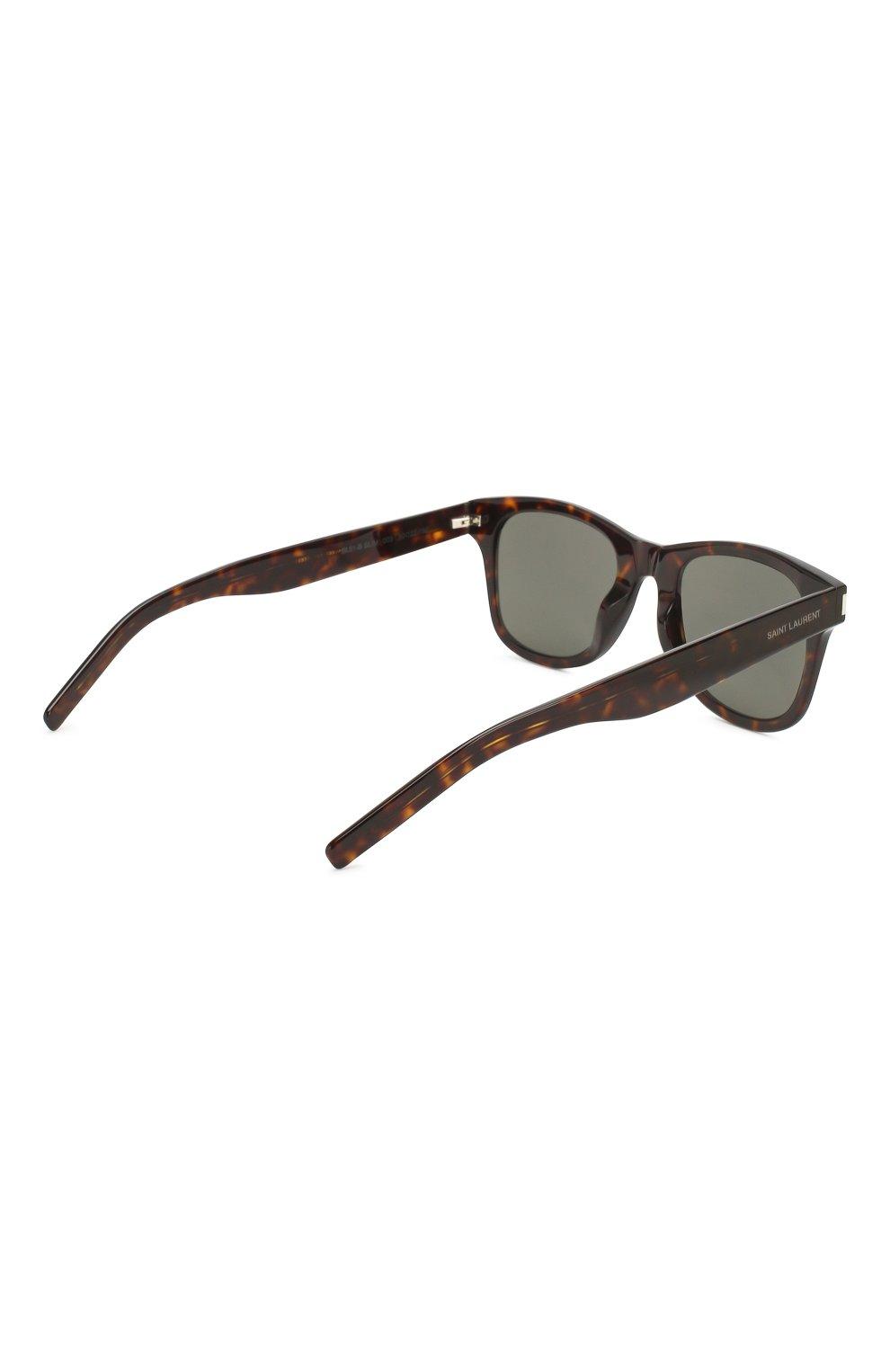 Женские солнцезащитные очки SAINT LAURENT коричневого цвета, арт. SL 51-B SLIM 003 | Фото 4