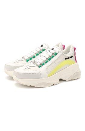 Женские комбинированные кроссовки bumpy 551 DSQUARED2 белого цвета, арт. SNW0072 01502532 | Фото 1