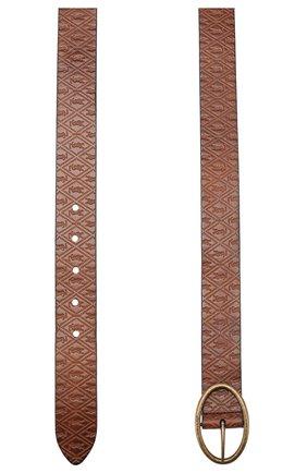 Женский кожаный ремень SAINT LAURENT коричневого цвета, арт. 609018/10M0B | Фото 2
