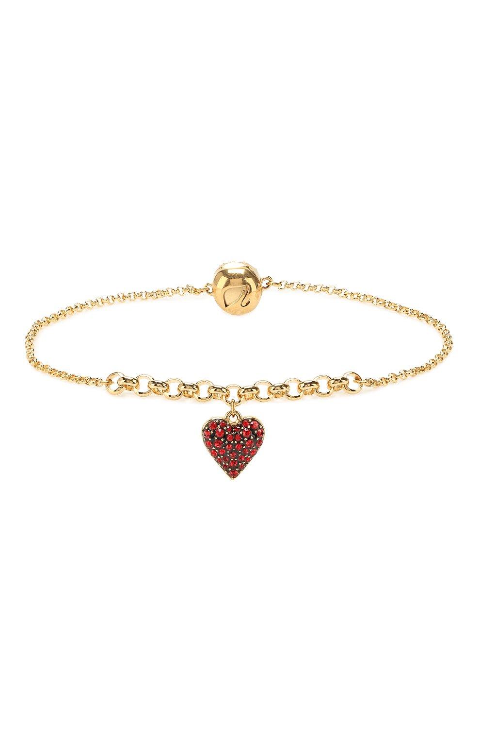 Женский браслет remix collection heart strand SWAROVSKI золотого цвета, арт. 5517641 | Фото 1