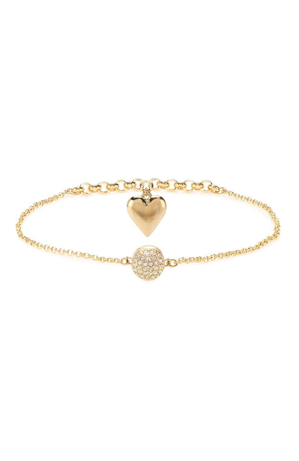 Женский браслет remix collection heart strand SWAROVSKI золотого цвета, арт. 5517641 | Фото 2