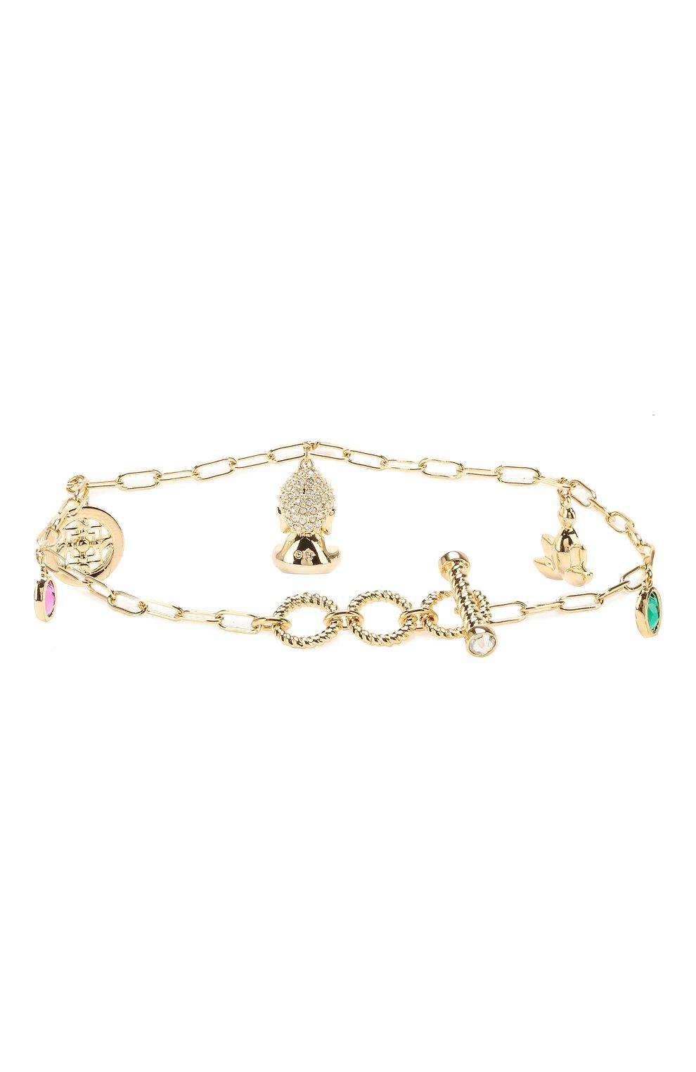 Женский браслет symbolic buddha SWAROVSKI золотого цвета, арт. 5514410   Фото 2