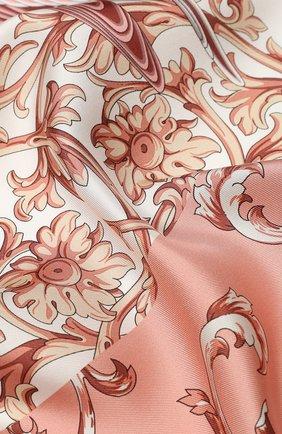 Женский шелковый платок SALVATORE FERRAGAMO розового цвета, арт. Z-0727004 | Фото 2