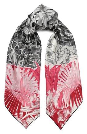 Женский шелковый платок SALVATORE FERRAGAMO розового цвета, арт. Z-0727015 | Фото 1