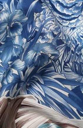 Женский шелковый платок SALVATORE FERRAGAMO голубого цвета, арт. Z-0727018 | Фото 2