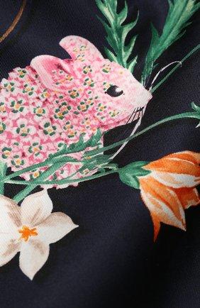 Женский шелковый платок SALVATORE FERRAGAMO синего цвета, арт. Z-0727953 | Фото 2