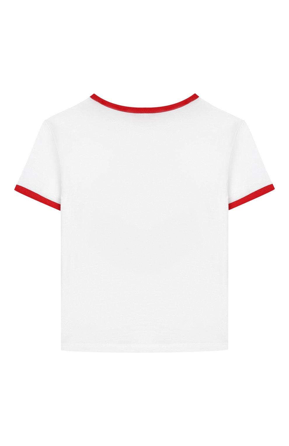 Детская хлопковая футболка MARC JACOBS (THE) белого цвета, арт. W15487 | Фото 2