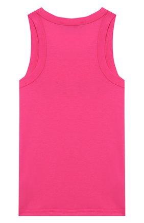 Детский хлопковый топ DKNY розового цвета, арт. D35Q71/476 SS20 | Фото 2