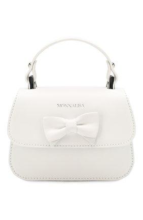 Детская кожаная сумка MONNALISA белого цвета, арт. 175BAS | Фото 1