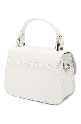 Детская кожаная сумка MONNALISA белого цвета, арт. 175BAS | Фото 2