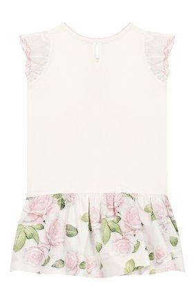 Женский платье MONNALISA розового цвета, арт. 315904SG | Фото 2