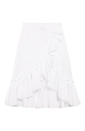 Детская хлопковая юбка JAKIOO белого цвета, арт. 495702 | Фото 1