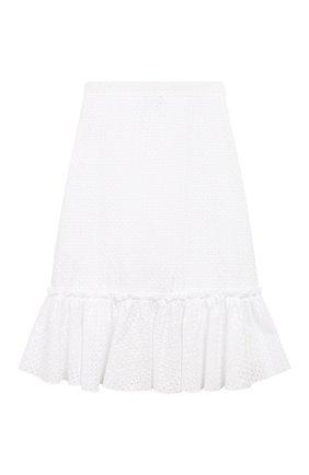 Детская хлопковая юбка JAKIOO белого цвета, арт. 495702 | Фото 2