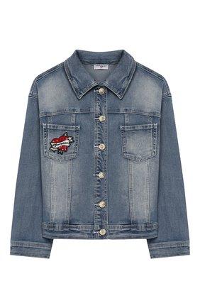 Детская джинсовая куртка MONNALISA голубого цвета, арт. 195110RF | Фото 1