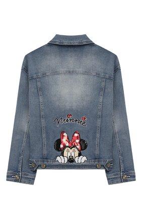 Детская джинсовая куртка MONNALISA голубого цвета, арт. 195110RF | Фото 2
