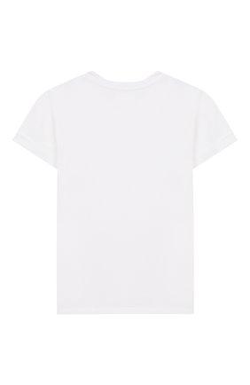 Детская хлопковая футболка STELLA JEAN KIDS белого цвета, арт. 20E/J/JF/TE06/1251/8A-14A | Фото 2