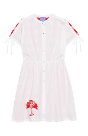 Детское хлопковое платье STELLA JEAN KIDS белого цвета, арт. 20E/J/JF/TA04/1251/4A-6A   Фото 1