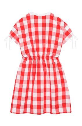 Детское хлопковое платье STELLA JEAN KIDS белого цвета, арт. 20E/J/JF/TA04/1251/4A-6A   Фото 2