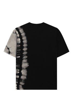 Детская хлопковая футболка MARCELO BURLON KIDS OF MILAN черного цвета, арт. 20E/B/MB/1124/0010/8-14Y | Фото 2