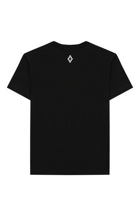 Детская хлопковая футболка MARCELO BURLON KIDS OF MILAN черного цвета, арт. 20E/B/MB/1121/0010/2-6Y | Фото 2