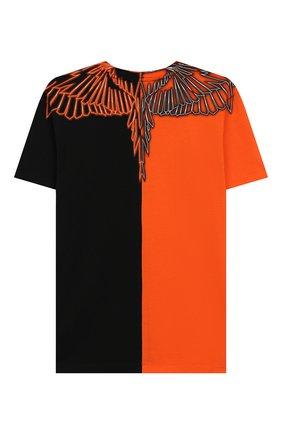Детская хлопковая футболка MARCELO BURLON KIDS OF MILAN черного цвета, арт. 20E/B/MB/1120/0010/8-14Y | Фото 2