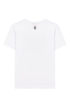 Детская хлопковая футболка MARCELO BURLON KIDS OF MILAN белого цвета, арт. 20E/B/MB/1109/0010/2-6Y | Фото 2