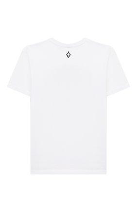 Детская хлопковая футболка MARCELO BURLON KIDS OF MILAN белого цвета, арт. 20E/B/MB/1109/0010/8-14Y   Фото 2