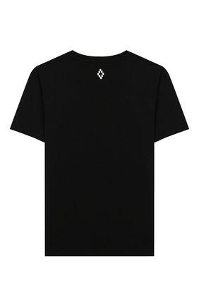 Детская хлопковая футболка MARCELO BURLON KIDS OF MILAN черного цвета, арт. 20E/B/MB/1109/0010/8-14Y | Фото 2