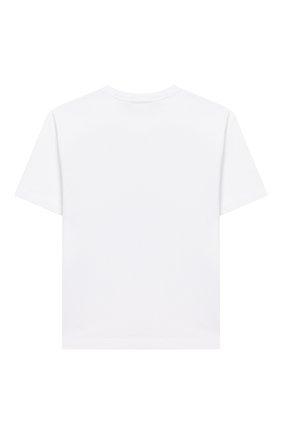Детская хлопковая футболка MARCELO BURLON KIDS OF MILAN белого цвета, арт. 20E/B/MB/1101/0010/2-6Y | Фото 2